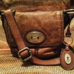 Leather crossbody by FOSSIL